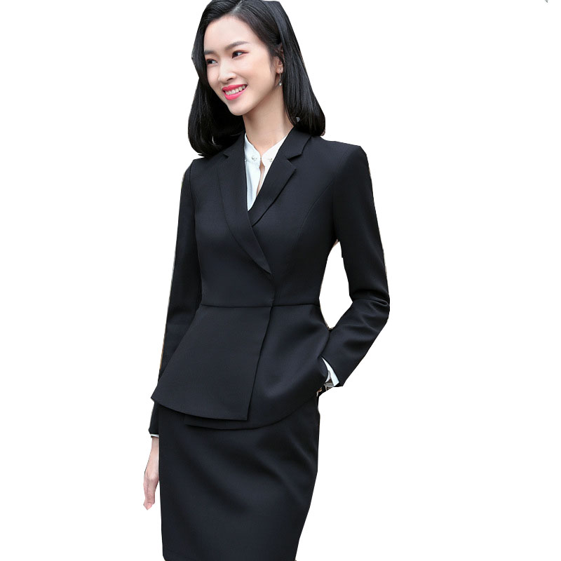 Women Blazer + Skirt Korean Business 2 Pieces Sets 2019 Autumn New Office Ladies Fashion Formal Casual OL Spring Interview Suit