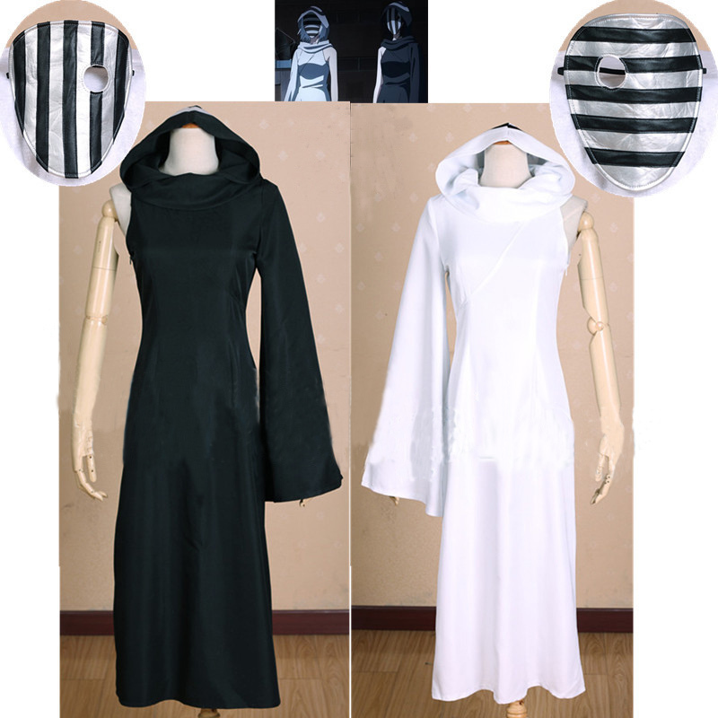 tokyo ghouls ii nashiro kurona yasuhisa 2 colors black  u0026 white cosplay costume free mask