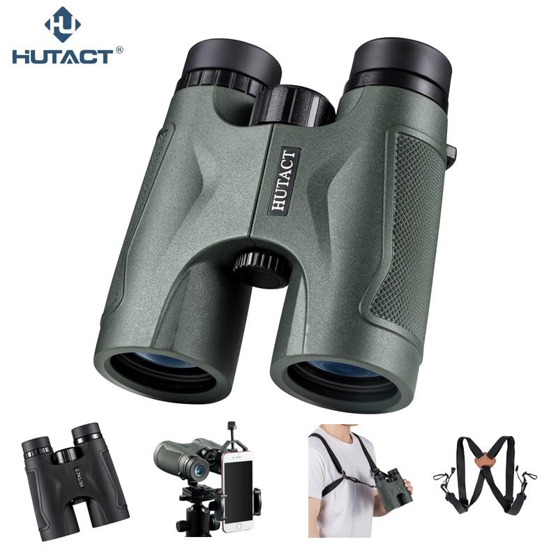 HUTACT Binoculars For Hunting Tool 10x42 Binoculo Handheld Telescope Professional Telescopio BAK4 Optical Bird Watching Concert