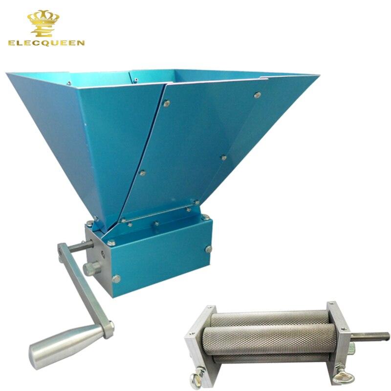 Super Quality Grinder Steel 3 Rollers Portable Manual malt mill Barley Crusher Malt Grain for Home