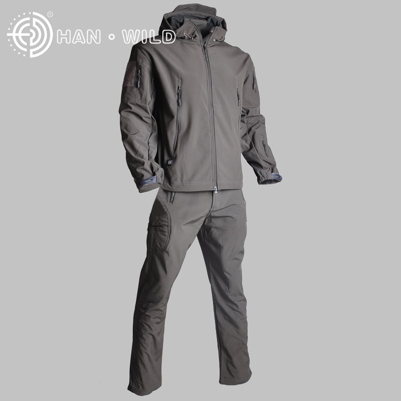 Tactical Sets Jacket Or Pants Sharkskin Men Waterproof Windproof Army Military Hunting Suits Outdoor Climbing Hiking Clothes Hiking Jackets Hiking Clothings