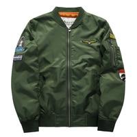 Primavera Autunno Moda Militare Bomber Degli Uomini di Volo Ma 1 pilota Air Force Army Tactical Jacket Maschio Militare Coat Plus formato