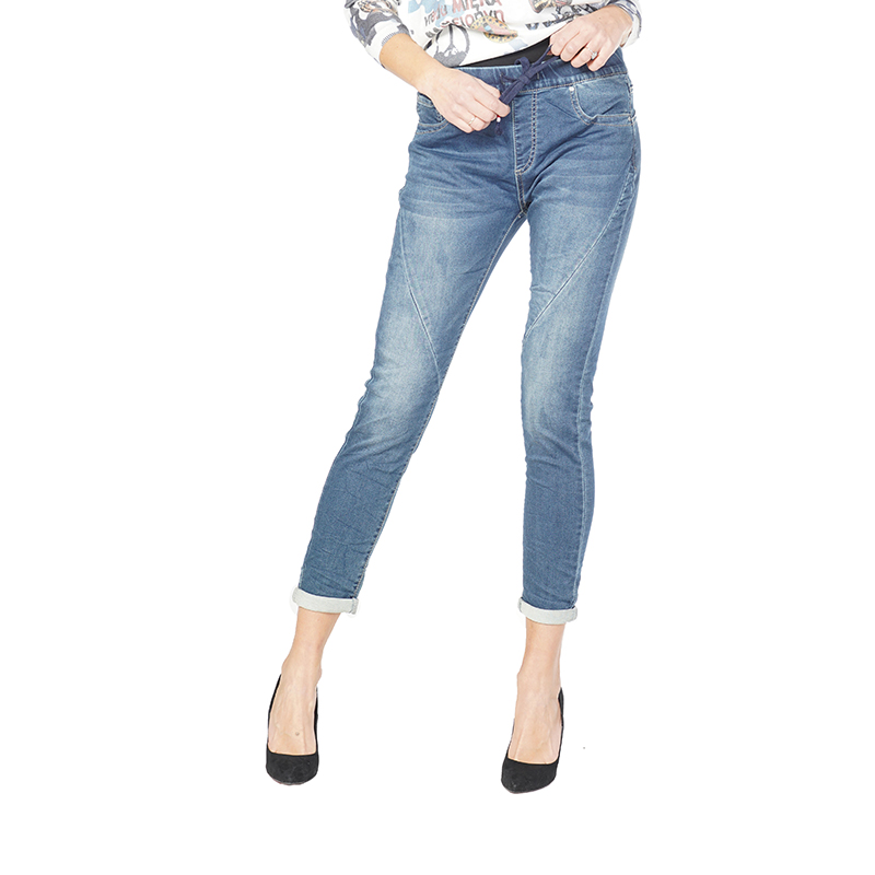 My Will Jeans Slim Stretch High Waist Skinny Jeans Female Scratches Worn Feet Vintage Pencil Pants 6302 Made In China
