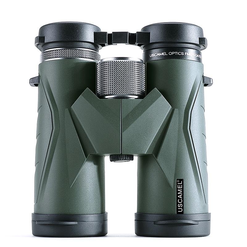 USCAMEL Binoculars 8x42 Waterproof Telescope Professional Hunting Optics Camping Outdoor (Army Green) comet 10x 50mm binoculars w nylon bag army green