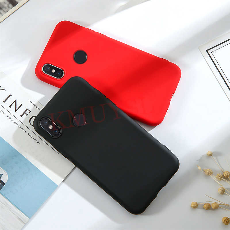 Case untuk Xiao Mi Merah Mi 7 Dicatat 7 5 6 Pro 6A 5 Plus Permen Warna Hitam untuk xiao Mi Mi 9 Se Mi 8 Lite A1 A2 Mi X 3 Merah Mi Go Kasus