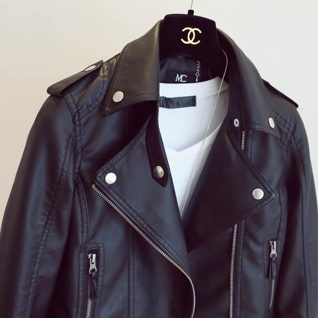 Online Shop New Autumn Winter Pu Leather Jacket Faux Soft Leather