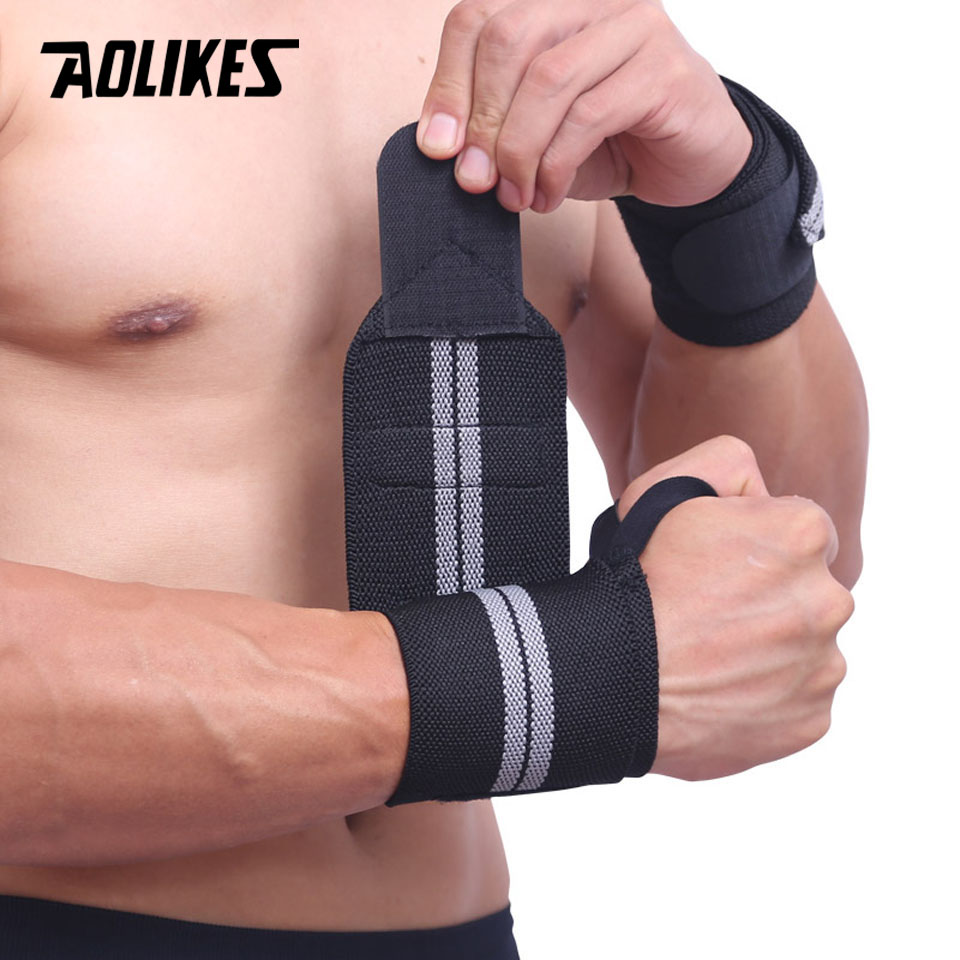 1 Pair Weight Lifting Hand Bar Grips Straps Wrist Support: 2X Weight Lifting Wrist Support Hand Brace Wraps Gym