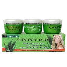 FEIQUE Golden Aloe whitening anti scar anti freckle nourishing skin day cream+night creram+Pearl cream цена и фото