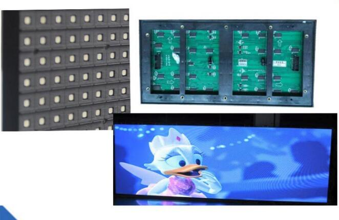 Купить с кэшбэком TEEHO P10 OutdoorLED module Panel 3in1 SMD Outdoor P10 LED Modules 320*160mm 32*16 pixels 1/4 scan full color SMD P10 LED panel