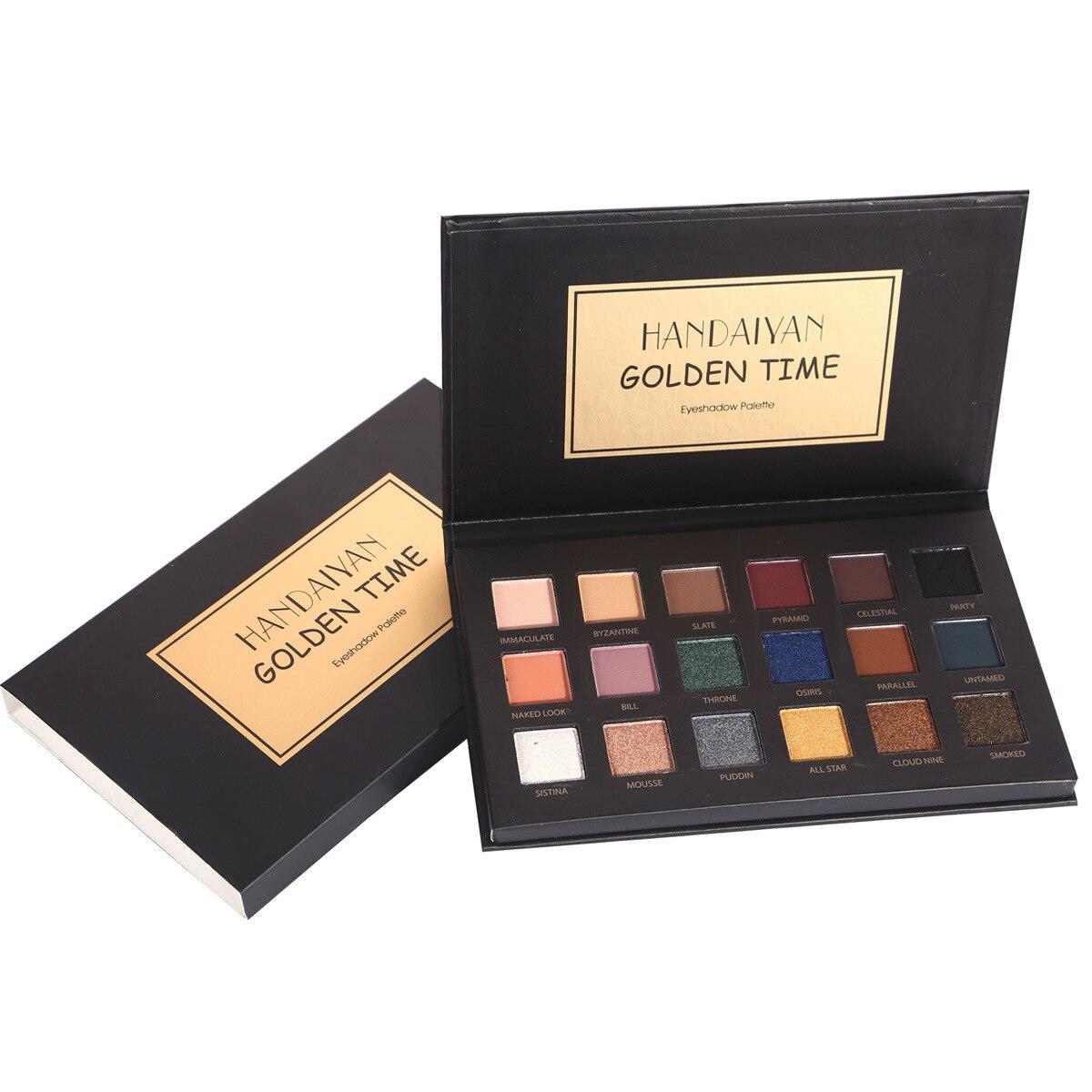 HANDAIYAN 18 Colors Smoky Earth Matte Shimmer Eyeshadow Pallete For Women Beauty Makeup Cosmetics Palette Drop Shipping