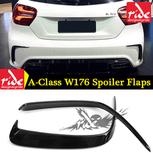 Fits For Mercedes-Benz W176 Rear Bumper ABS black A-Class A180 A200 A250 A45 Lool Air Dam Trimming Diffuser 2012-18
