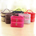 Cosmetic bag Dot Professional Cosmetic Bag Large Capacity Portable Women organizer cosmetic Makeup storage travel toiletry bags