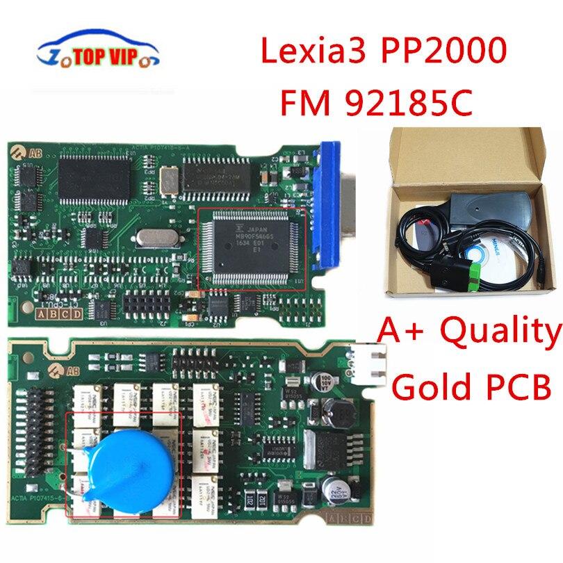 2018 Top Verwandte Gold PCB Lexia 3 Hohe Qualität V7.83 Firmware 92185C Lexia3 pp2000 OBD2 Diagnose