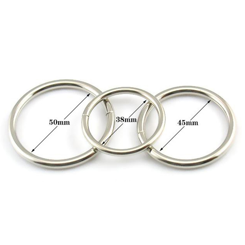 3 size for choose Penis Lock Refill Stainless Steel Cock Rings For Chastity Crafts Metal Male Chastity Device Adult Game