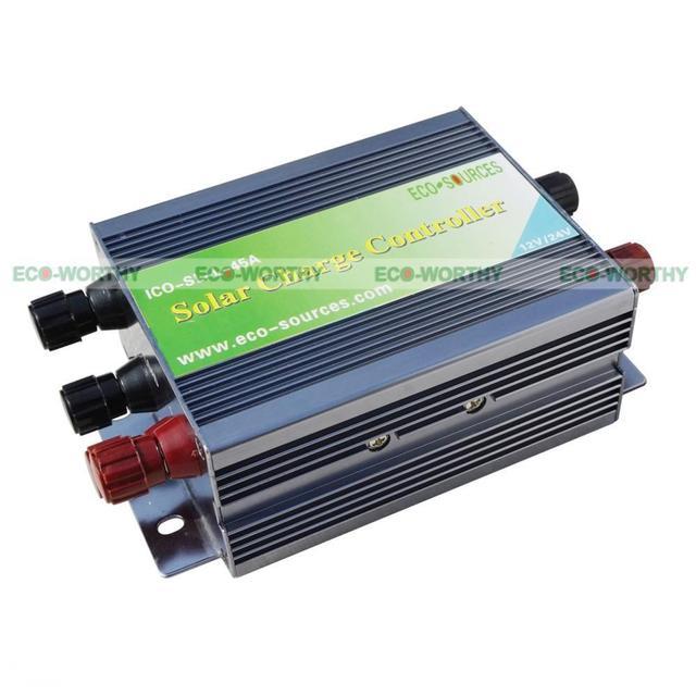 8pcs 160W 12V PV Mono Solar Panel W/ 6 String Combiner Box 45A PWM Controller Solar Generators
