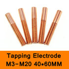 Pure Copper Orbital Tapping EDM Electrode Hole Thread Electrode Discharge Red Copper Screw Tooth Metric Size M3 to M20 40X60mm