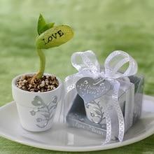 100 шт./лот белый горшок романтический маленький цветочный горшок новинка милые свадебные сувениры, подарки для вечеринок садовые сувениры
