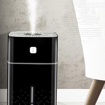 1000 Ã�リリットルの空気加湿器超音波 Usb Ã�ィフューザーアロマエッセンシャルオイル Led Ť�の光ミスト清浄機加湿器黒