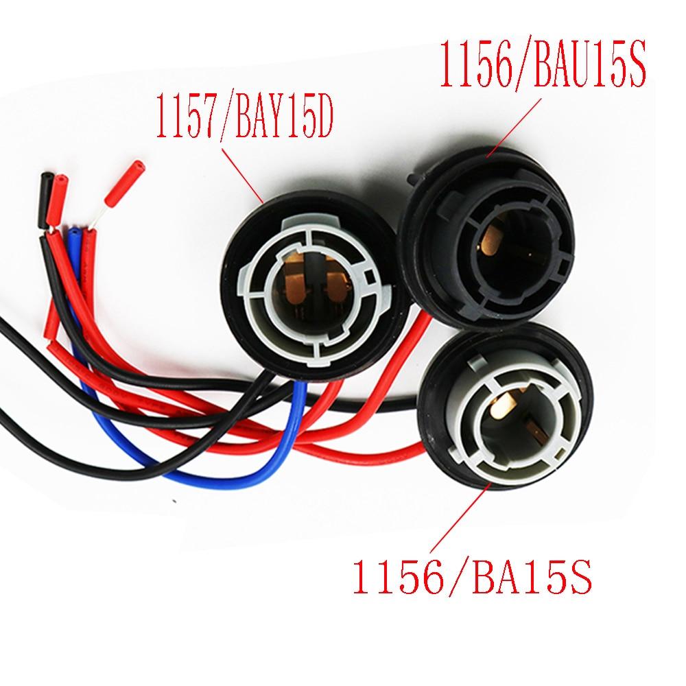 Car Led Light Bulbs Holder Socket Plug Adapter Wiring Harness Clip Y 1x Connector P21w 7528 1156