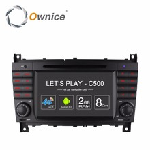 Ownice 4G ANDROID CAR GPS Navigation Auto Entertainment DVD Multimedia Video PLAYER for Mercedes-Benz MB C-Class W203 CLK W209