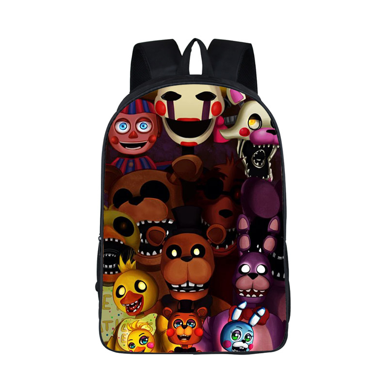 Five Nights At Freddy Backpack Boys Girls FNAF School Bags Backpack Five Night At Freddys Bag Children Cartoon Kindergarten Bags five nights at freddys backpack for teen bonnie fazbear foxy freddy chica backpack boys girls school bags backpacks kids bags