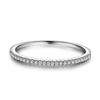 7d7c67aa8d48 La mitad de la eternidad anillo sólido 14 k oro blanco 1 10CT diamante  Natural las mujeres boda banda de moda joyería fina regalo