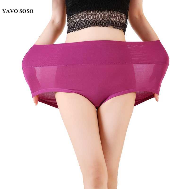 Intimate Plus Ukuran 6XL 7XL Wanita Celana Dalam Serat Bambu 11 Warna Celana Dalam Wanita Pakaian Dalam Wanita Celana Pinggang Tinggi Celana Dalam