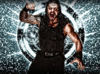 Roman Reigns painting