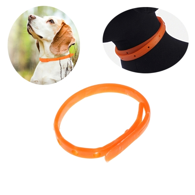 US $0 75 20% OFF|New Pet Dog Cat Flea Tick Kill Remover Collar Adjustable  Protection Aroma Neck Ring-in Litter Boxes from Home & Garden on