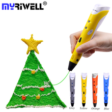 Myriwell ABS PLA Filament 3d Pen 3D Doodler Pen Low-Heat BPA-Free Caneta 3d Magic Pen for Christmas Birthday Gifts Stylo Pluma все цены