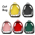 Pet Dogs Cat Carrier Bags Breathable Durable Cat Transparent Bags Big Space for Kitten Cat Dog Travel Outdoor Backpacks for Cats
