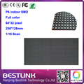 64x32 led display module p4 smd led module P4 indoor led screen big led video wall P4 SMD 3in1 256x128mm, pixel 64*32