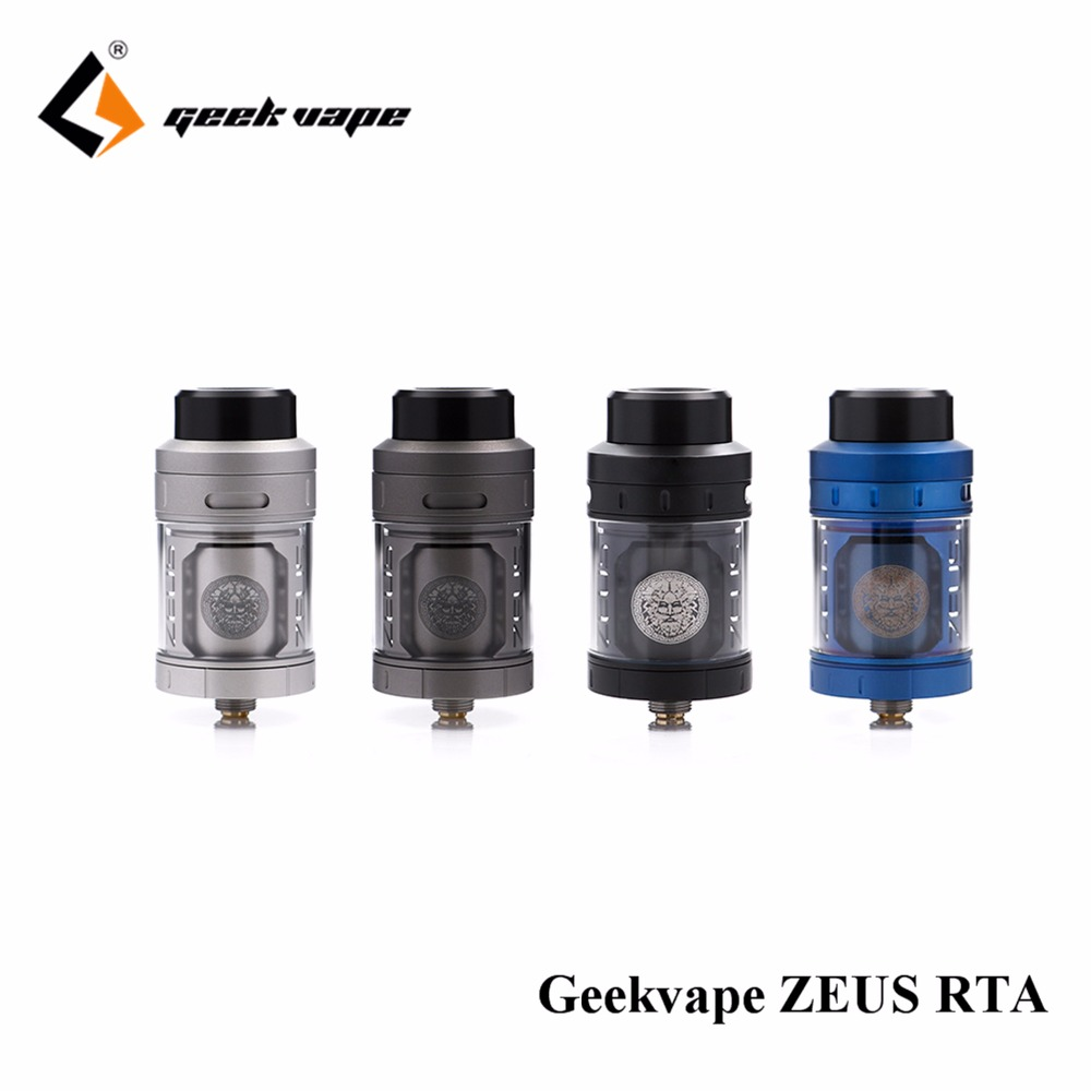 Newest Geekvape Zeus RTA best flavor ecig atomizer 4ml 3D airflow E Cigarette Zeus Atomizer for
