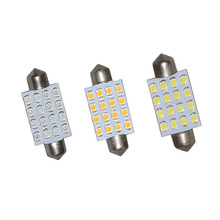 10PCS festoon dome 41mm 16SMD 3528 LED 1.0W white warm white blue Bulb Interior 560 Dome Map Trunk Door 24V цена 2017