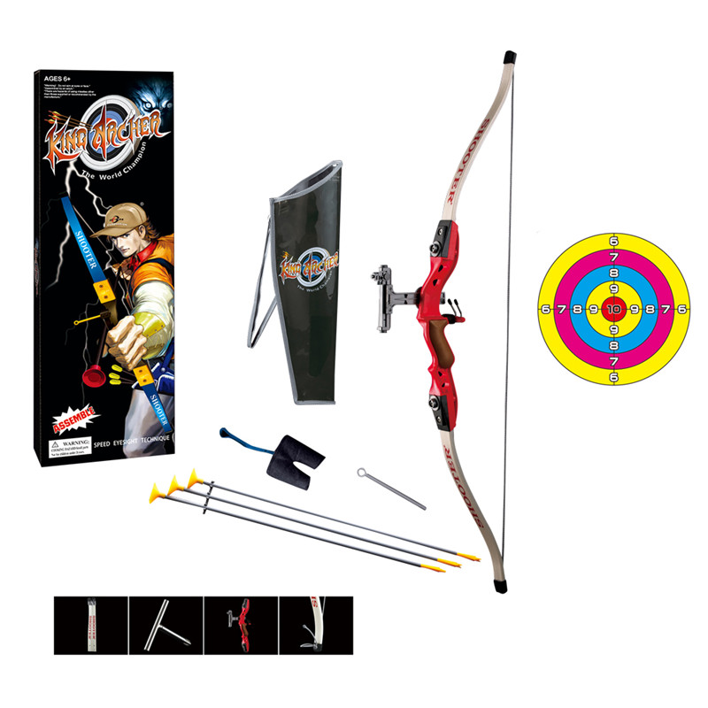 1:1.8 Hunting Shooting Safety Suction Cup Simulation Bow And Arrow Set Special Composite Material Toy Swords Aged 7-14 Years