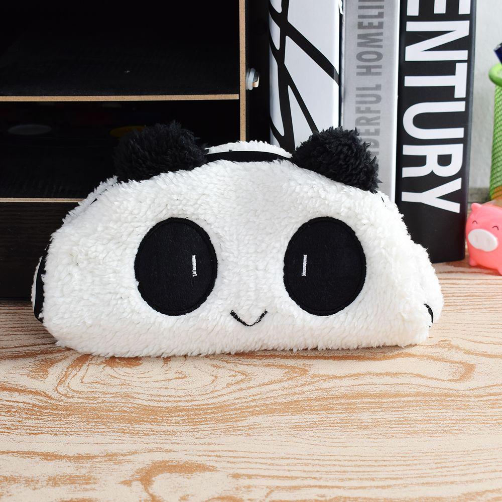 Cute Kawaii 3D Plush Panda Pencil Case Large Capacity Pen Pocket Multifunctional Cosmetic  Bag Stationery School Supplies