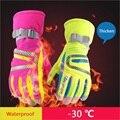 Men&Women Skiing Gloves for Winter Full Waterproof Fabrics Snowboarding Skateboard Gloves Motorcycle Windproof Riding Ski Gloves