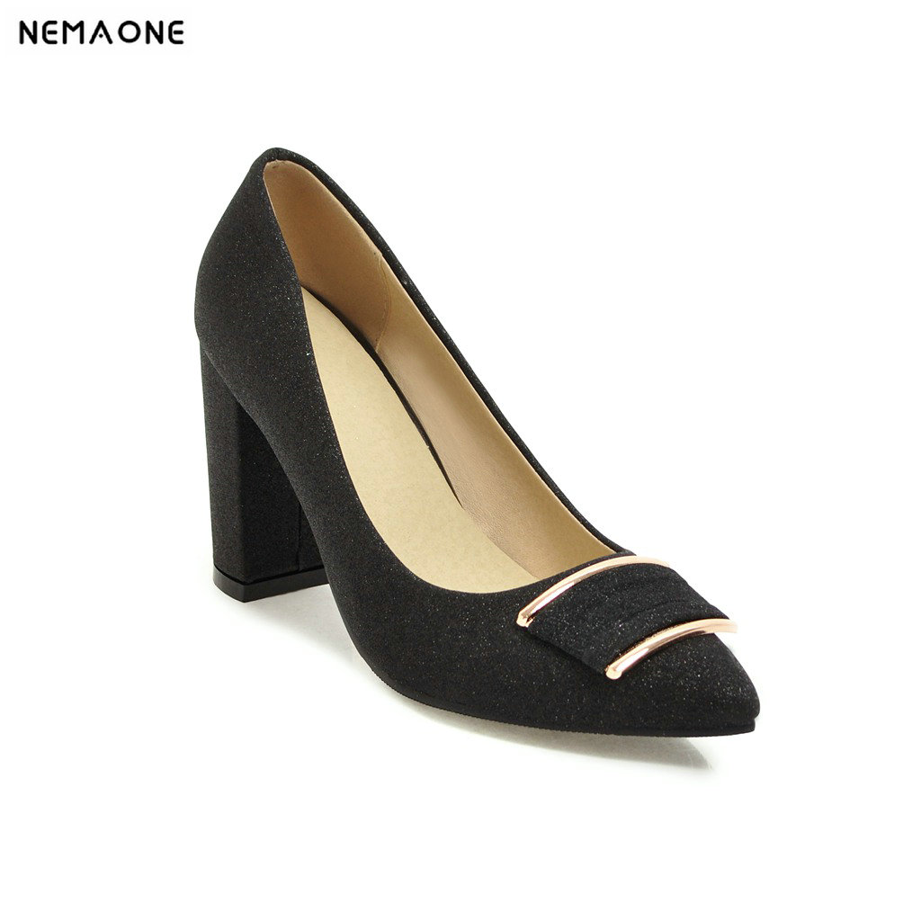 NEMAONE summer Office shoes Women Pumps high heels Party Simple Pointed Shallow high heels Woman Office shoes women