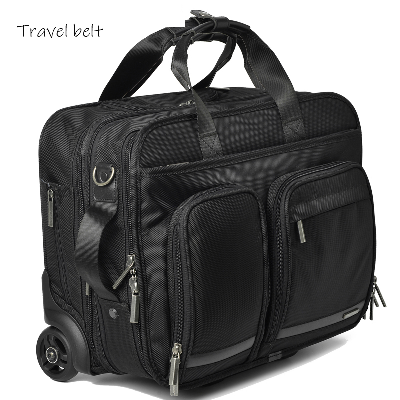 Travel Belt  Multi-functional business trip oxford Rolling Luggage Spinner 18 inch Men Suitcase Wheels Carry On Travel BagsTravel Belt  Multi-functional business trip oxford Rolling Luggage Spinner 18 inch Men Suitcase Wheels Carry On Travel Bags