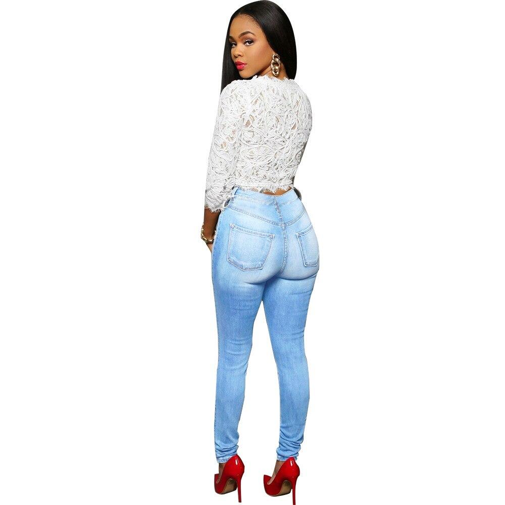 Women Plus Size High Waist Washed Light Blue True Denim Pants Boyfriend Jean Femme For Women Jeans Femme Denim Pants fashion women high waist blue jeans denim pants boyfriend jean femme jeans trousers plus size s 2xl