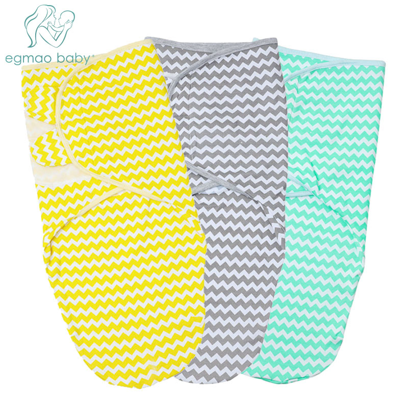 0-6 Months Adjustable Swaddle Blanket Infant Baby Wrap Best Gift For Baby Girl Or Boy Beautiful Stripe Design Baby Swaddle