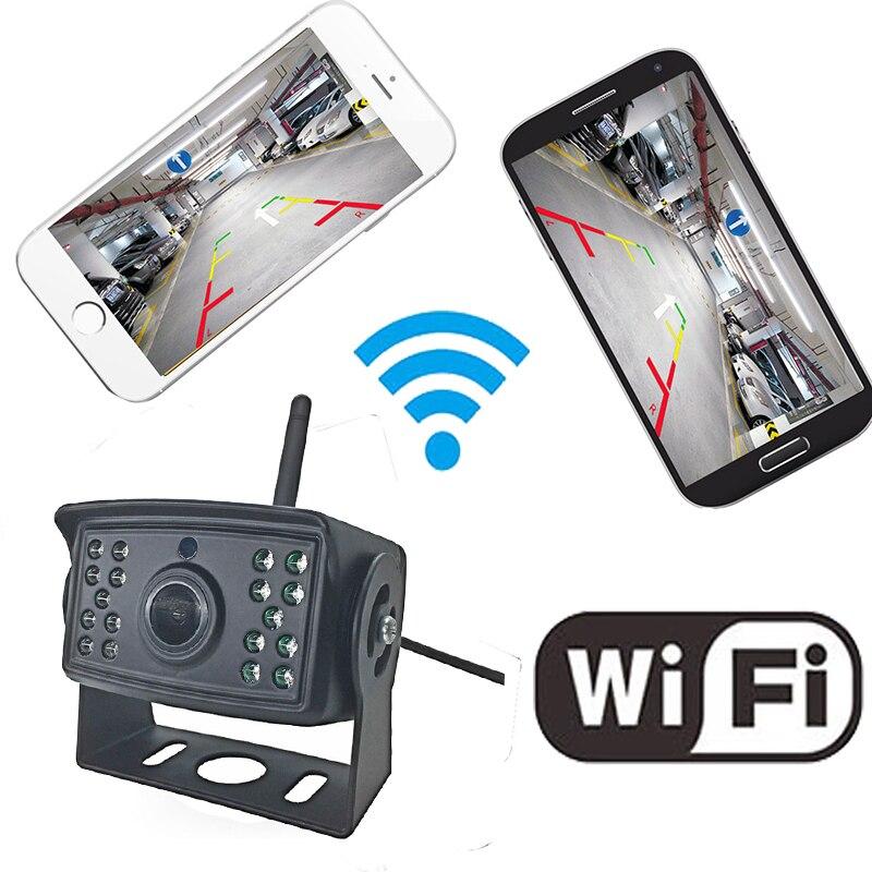 WiFi Sans Fil Vue Arrière de Voiture De Sauvegarde Caméra De Recul pour Bus Van Caravane Remorque Camion RV Camper Travail Avec l'iphone et android