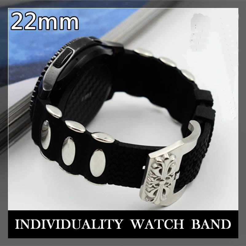Newest Big Buckle special Silicone Rubbe watch strap band for Samsung Gear S3 Classic Frontier bracelet & fabric watchbands