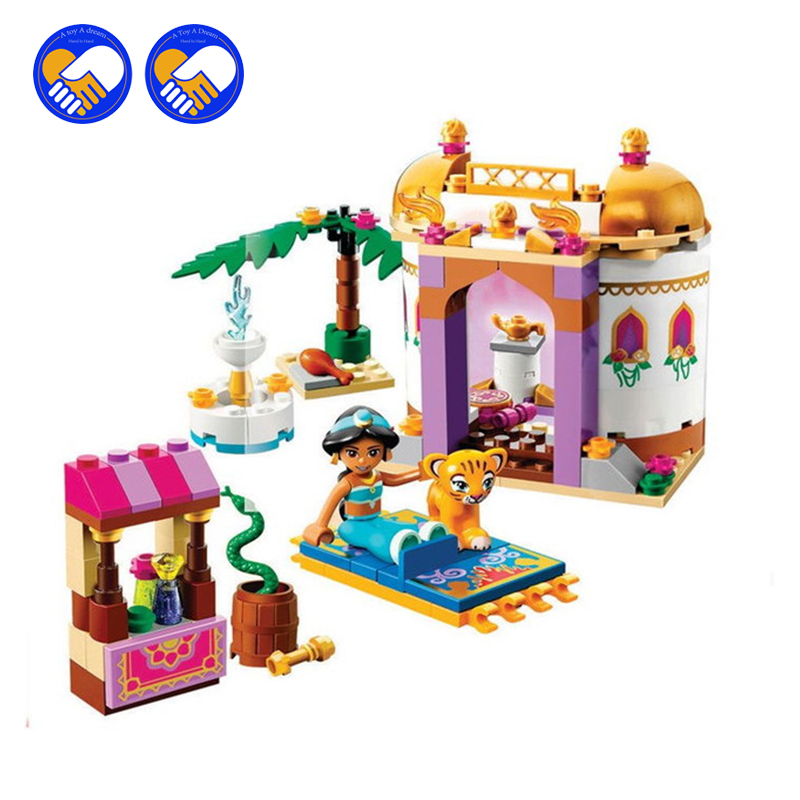 A toy A dream NEW 10434 Dream Sleeping Girl Series Aladdin Princess Jasmine Bricks set Compatible Lepin Building Blocks Toys a toy a dream lepin 24027 city series 3 in 1 building series american style house villa building blocks 4956 brick toys