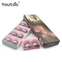 BEIGEAI 838 False Eyelashes New 10 Pair Set Natural Fake Lashes Black Cilia False Eye Lashes