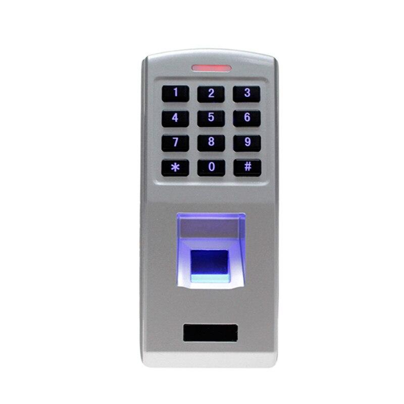 Serrure de porte d'empreinte digitale temps de présence étanche scanner d'empreintes digitales de contrôle d'accès clavier lecteur pour système de verrouillage de porte de sécurité