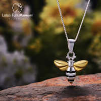 Lotus Fun Momen Real 925 Silver Fashion Jewelry Lovely Honey Bee Pendant without necklace Chain for Women dropshipping wholesale