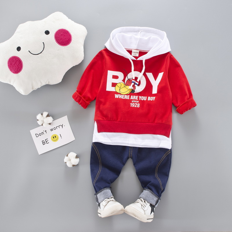 Spring Babys Sets Cotton Sweatshirts + Casual Trousers Kids Boys 2Pcs Suits Infant Casual Tracksuits roupas de bebe