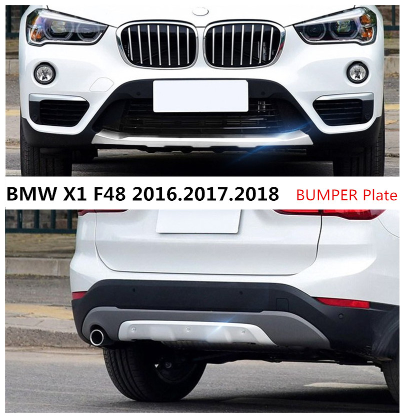 For BMW X1 F48 2016.2017.2018 BUMPER GUARD BUMPER Plate High Quality Stainless Steel Front+Rear Auto Accessories