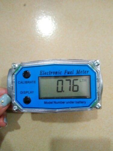 Numérique Turbine Débitmètre Débitmètre Jauge Caudalimetro Électronique Indicateur de Débit Compteur De Capteur De Carburant Essence Plomeria D'eau DN25
